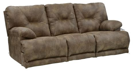 3 seater sofa with 2 recliner actions power 3 seat quot lay flat quot reclining sofa with fold down