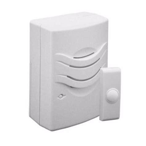 wireless door bells iq america wireless doorbell chime with 2 tone white