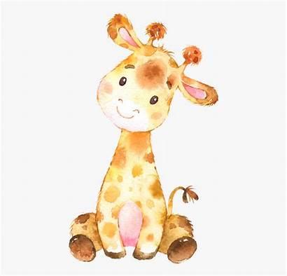 Giraffe Clipart Watercolor Cartoon Cliparts Webstockreview Animal