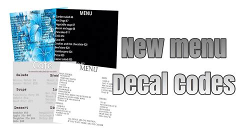 Roblox Decal Id Bloxburg Menu Pictures To Pin On Pinterest