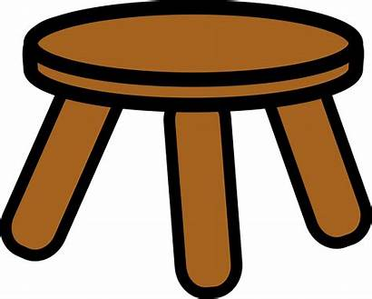Stool Clipart Legged Wooden Clip Foot Cliparts