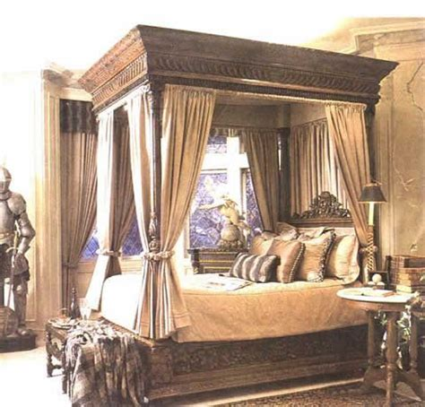 circa  style  poster bed carved  poster bed