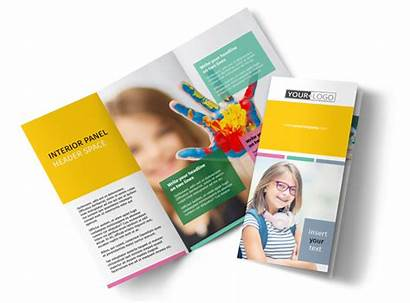 Brochure Education Child Template Tri Fold Templates