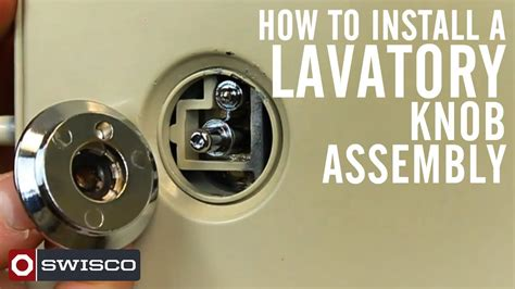 install    lavatory knob assembly youtube