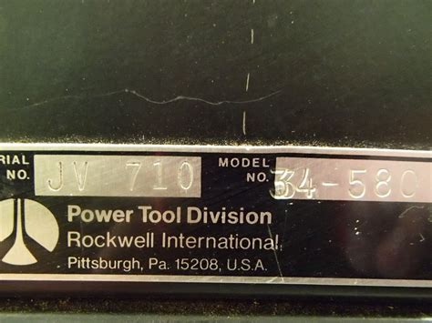 rockwell model 9 table saw rockwell homecraft table saw model 9 btm industrial