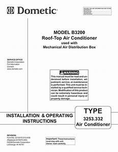 Dometic Caravan B3200 Operating Instructions