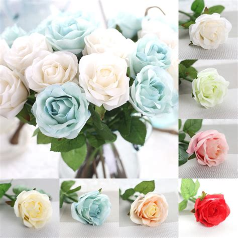 pcs roses real touch flowers  silk wedding bridal