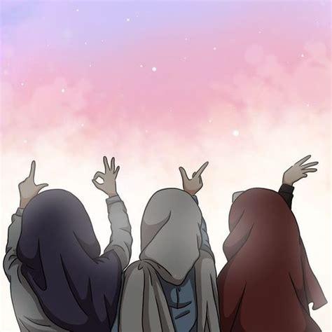 gambar kartun muslimah cantik lucu  bercadar hd   ilustrasi karakter