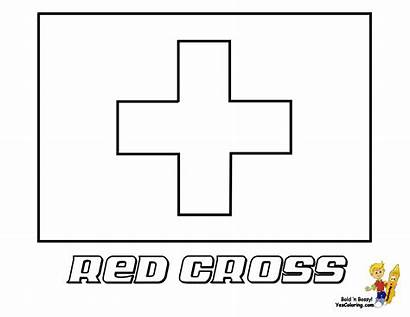Coloring Flag Pages Cross Flags Swiss Yescoloring