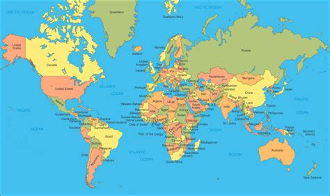 life world map  countries