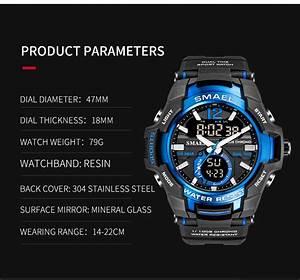 Smael 1805 Men U0026 39 S Alloy Case 50m Waterproof Sport Watch