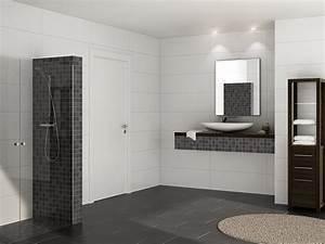 Boden Für Badezimmer : dusche fliesen anthrazit ~ Michelbontemps.com Haus und Dekorationen