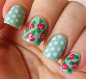 Did my nails vintage rose nail art tutorial