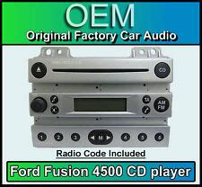 ford 4500 cd player ford fusion car stereo silver radio supplied with code