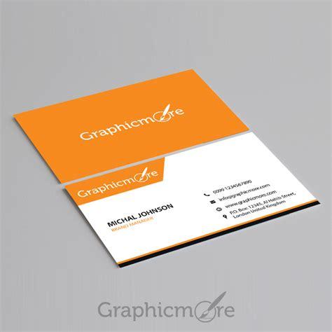 corporate business card template design  psd file