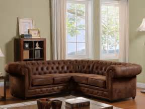 bequeme sofa chesterfield ecksofa microfaser antoine vintage look kauf unique