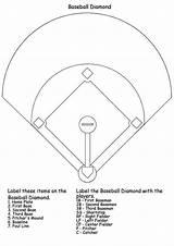 Baseball Coloring Pages Diamond Printable Books sketch template