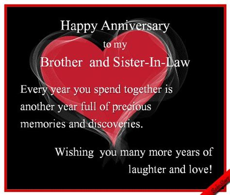 anniversary brother sisterinlaw wwwgreetingscomprofilebebestarr weddinganniversary