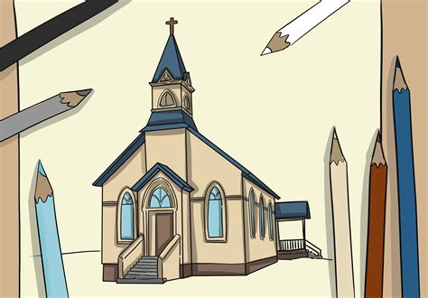 draw  church  steps  pictures wikihow