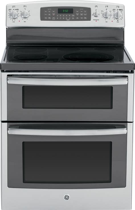 pbsfss ge profile series   standing double oven range  convection stainless steel