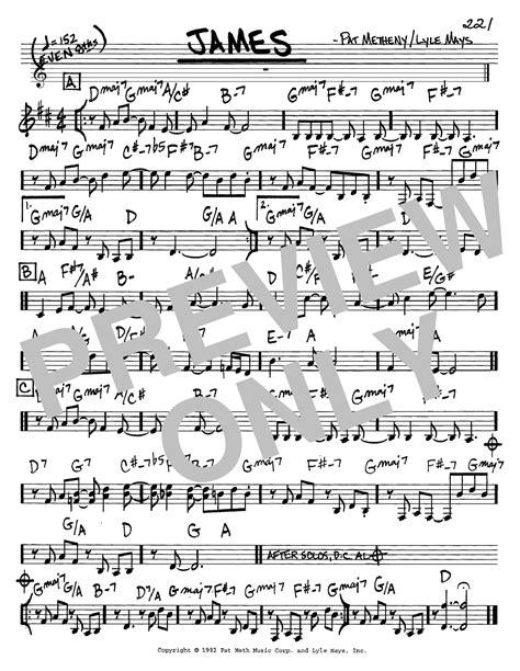 jim pat metheny sheet by pat metheny real book melody chords c instruments 65483