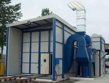 cabina di sabbiatura cabina di sabbiatura e cabina di verniciatura in linea
