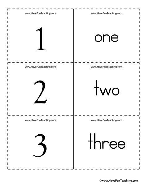 numbers word    flash cards kids learning math