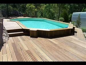 Bois Terrasse Piscine : pose installation terrasses en bois 34 herault montpellier piscines et terrasses du languedoc ~ Melissatoandfro.com Idées de Décoration