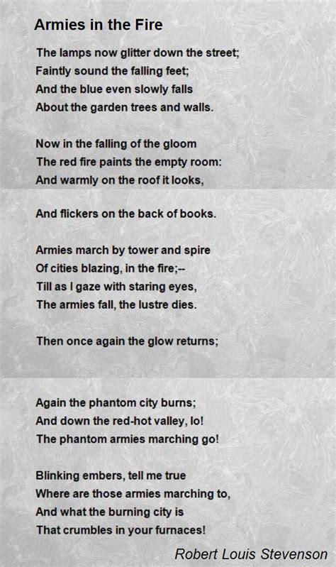 armies   fire poem  robert louis stevenson poem