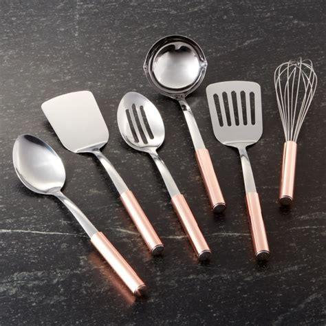 utensils  copper handles crate  barrel