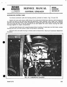 Car Maintenance Schedule Chart Ez Go Gx440 Gx444 Repair Service Manual 1970 1990 Tradebit