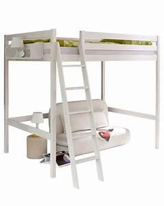 Hochbett 140x200 Weiß : hochbett matthias 140x200 aus kiefer in wei ~ Indierocktalk.com Haus und Dekorationen