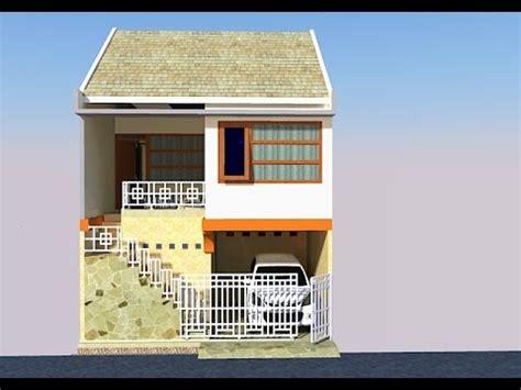 rumah  lantai  lahan terbatas ririesproperty