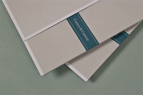 cooney conway collateral kit  behance