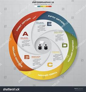 5 Steps Vector Circle Arrows For Infographic  Template For