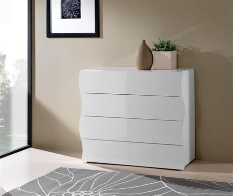 commode design 4 tiroirs laqu 233 e blanche onida chambre enfant chambre