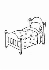 Bed Quilt Coloring Furniture Printable sketch template