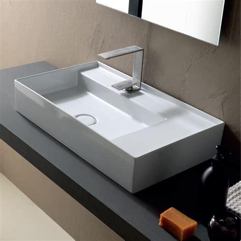 aufsatzwaschbecken aus keramik modernes design