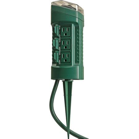 woods outdoor  outlet yard stake  photocell light