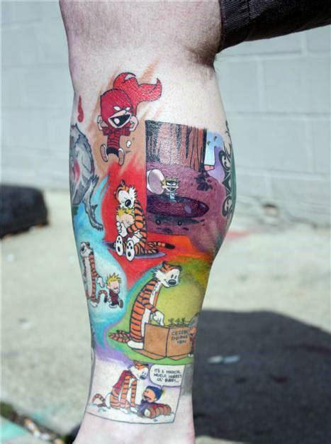 calvin  hobbes tattoo designs  men comic ideas