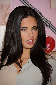 Adriana Lima Dark Brown Hair