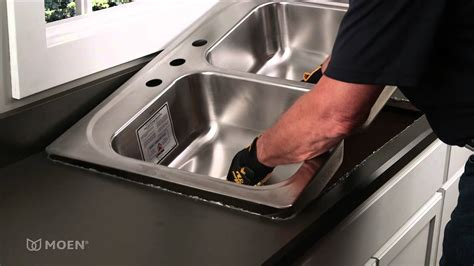 how to replace a sink how to install a stainless steel drop in sink moen