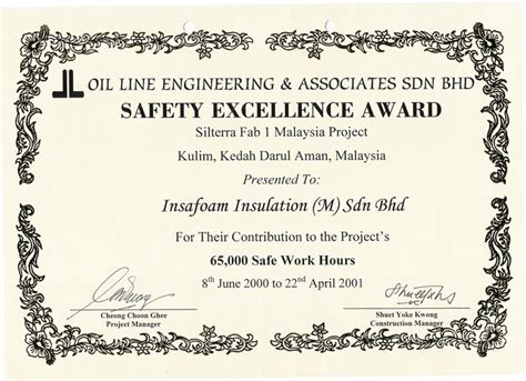 Safety Recognition Certificate Template by Safety Certificate Template 28 Images Safety