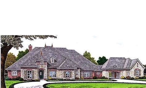 houseplanscom    sq ft french style  bed  bath wporte cochere  garage sta