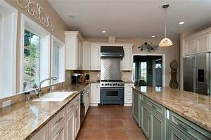 san francisco venetian gold granite kitchen traditional With kitchen colors with white cabinets with mosaic candle holders wholesale