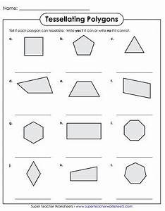 tessellation worksheets With tessellating shapes templates