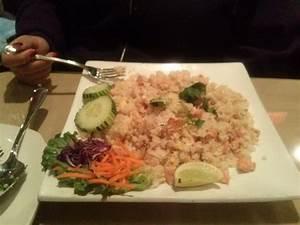 Garlic Salmon Thai Fried Rice Picture of Siam Nara Thai