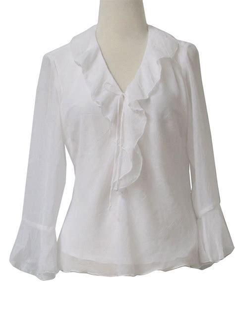 ruffled white blouse 39 s ruffled white blouse silk pintuck blouse