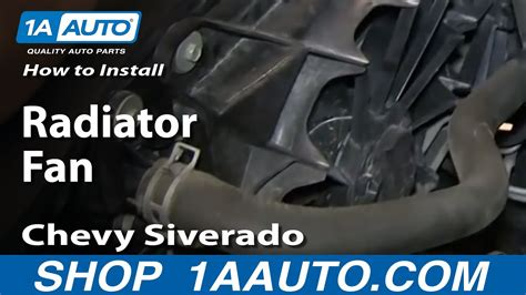 install replace remove radiator fan   chevy