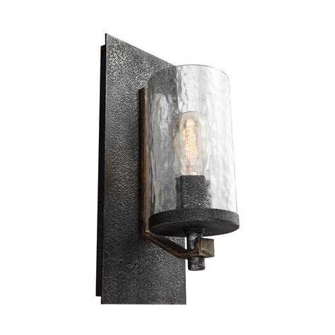 feiss angelo 5 5 in w 1 light distressed weathered oak